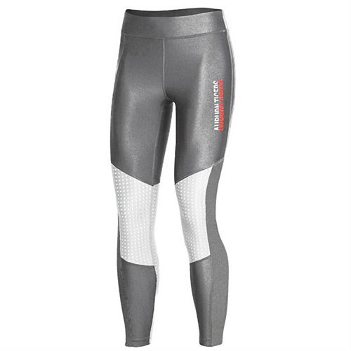 Women's Under Armour Gray Auburn Tigers Perforated Pocket Crop Performance Leggings