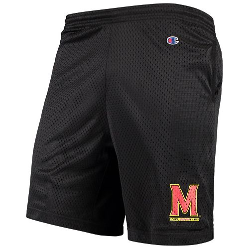Men's Champion Black Maryland Terrapins College Mesh Shorts