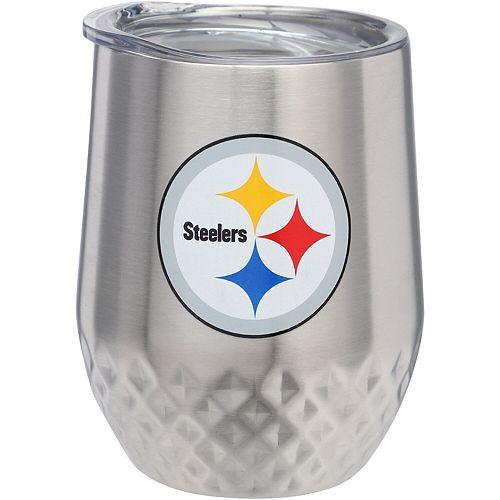 Pittsburgh Steelers 12oz. Stainless Steel Stemless Diamond Tumbler