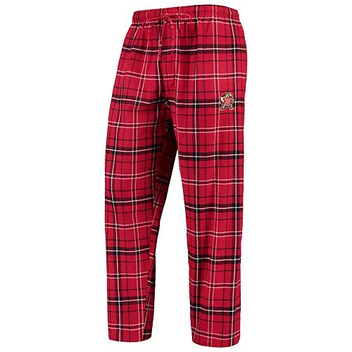 Men's Concepts Sport Red/Black Maryland Terrapins College Ultimate Flannel Pants