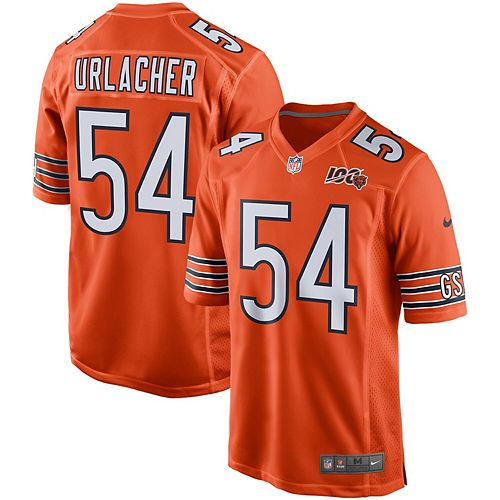 Men's Nike Brian Urlacher Orange Chicago Bears 100th Season Retired Game Jersey