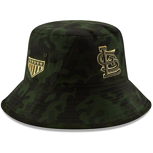 St. Louis Cardinals New Era 2019 MLB Armed Forces Day Bucket Hat - Camo