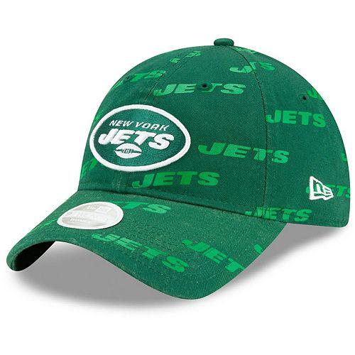 Women's New Era Green New York Jets Worded 9TWENTY Adjustable Hat