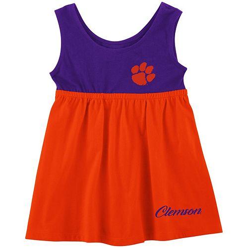 Girls Newborn & Infant Colosseum Orange Clemson Tigers Berlin Back Bow Cutout Dress