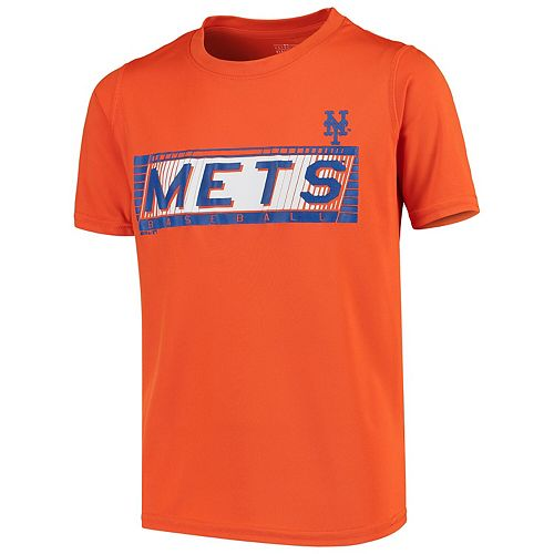 Youth Orange New York Mets Switch Hitter Dri-Tek T-Shirt