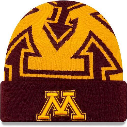 Men's New Era Maroon Minnesota Golden Gophers Logo Whiz Cuffed Knit Hat