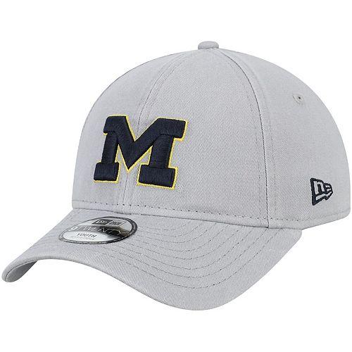Youth New Era Gray Michigan Wolverines Core Classic Twill 9TWENTY Adjustable Hat
