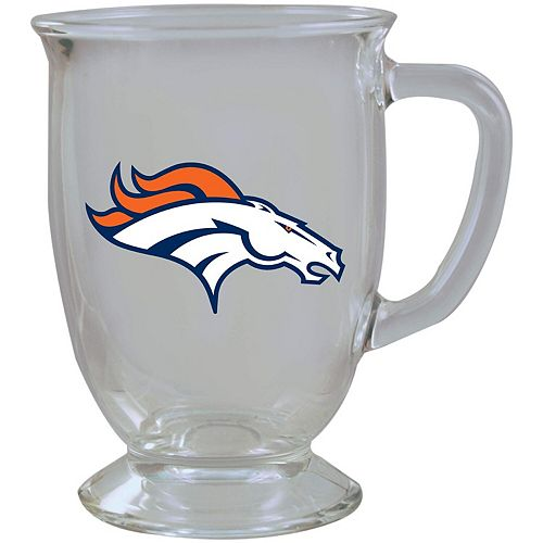 Denver Broncos 16oz. Kona Glass Mug
