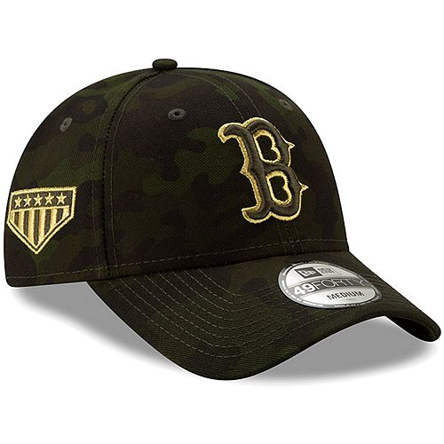 Boston Red Sox New Era 2019 MLB Armed Forces Day 49FORTY Fitted Hat - Camo