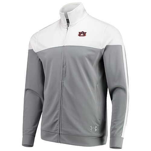 Men's Under Armour White Auburn Tigers College Track Jacket