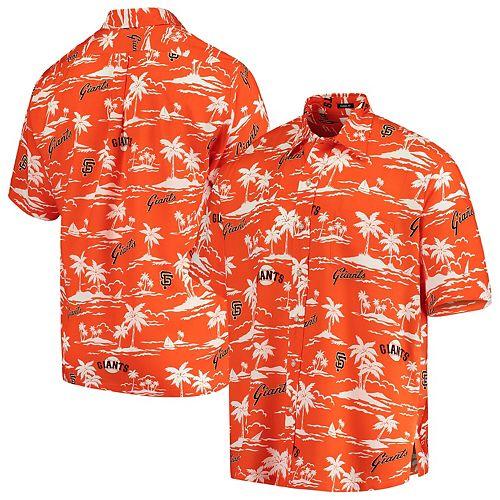 San Francisco Giants Reyn Spooner Vintage Short Sleeve Button-Up Shirt - Orange/Black