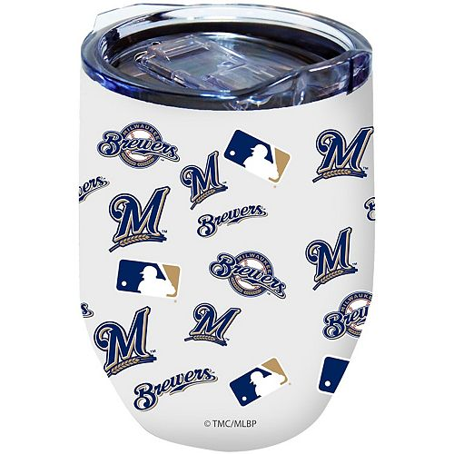 Milwaukee Brewers 16oz. Powder-Coated Full Wrap Stemless Tumbler Cup