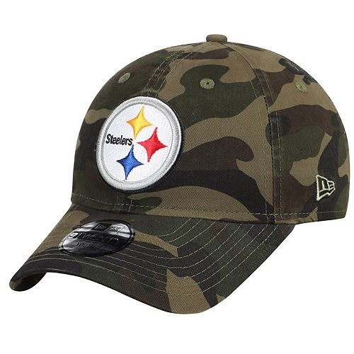 Youth New Era Camo Pittsburgh Steelers Core Classic Woodland Camo 9TWENTY Adjustable Hat