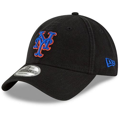 Men's New Era Black New York Mets Core Classic Secondary 9TWENTY Adjustable Hat