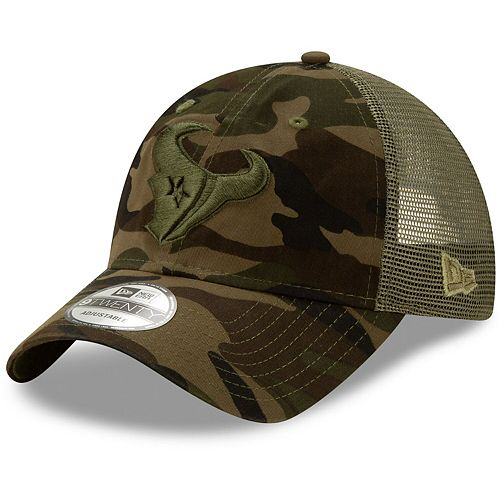 Men's New Era Camo Houston Texans Tonal Trucker 9TWENTY Adjustable Snapback Hat