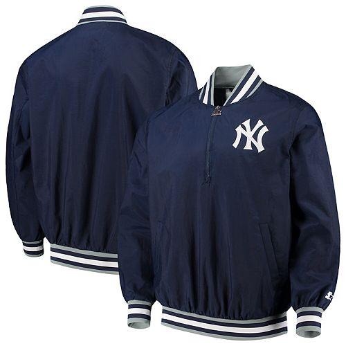 Men's G-III Sports by Carl Banks Navy New York Yankees Starter Jet Game Half-Zip Pullover Jacket