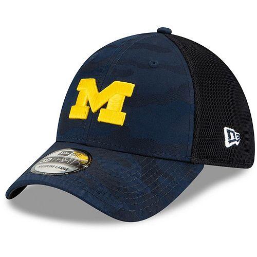 Men's New Era Navy Michigan Wolverines Camo Neo Front 39THIRTY Flex Hat