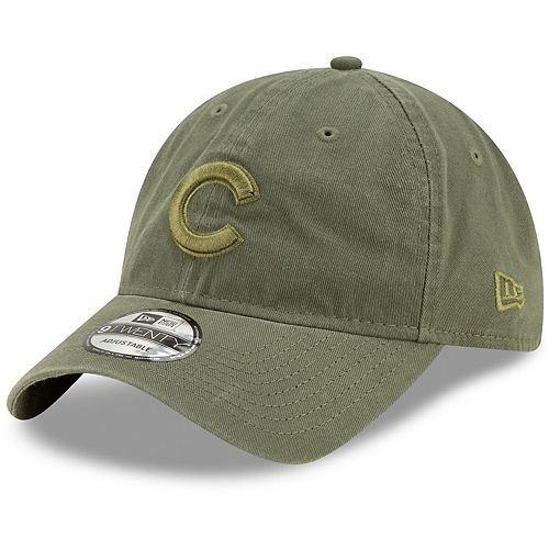 Men's New Era Olive Chicago Cubs Tonal Core Classic Primary Logo 9TWENTY Adjustable Hat