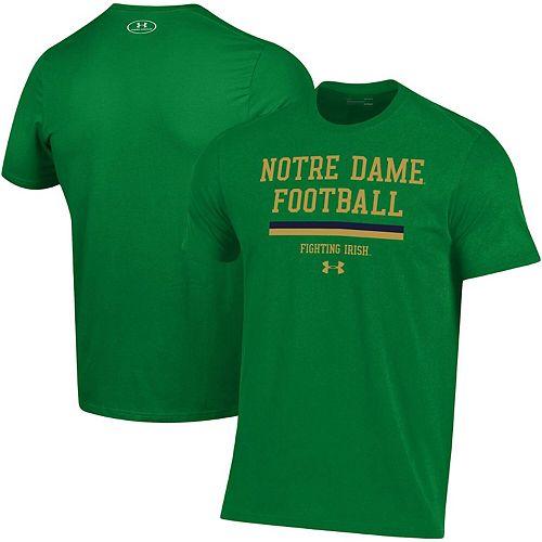 Men's Under Armour Green Notre Dame Fighting Irish 2019 Football Sideline Performance T-Shirt