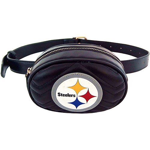 Women's Cuce Pittsburgh Steelers Faux Leather Belt Bag