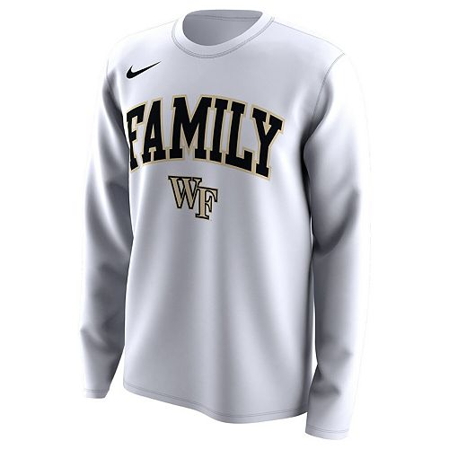 Men's Nike White Wake Forest Demon Deacons March Madness Family on Court Legend Basketball Performance Long Sleeve T-Shirt