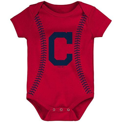Newborn & Infant Red Cleveland Indians Alternate Color Running Home Bodysuit
