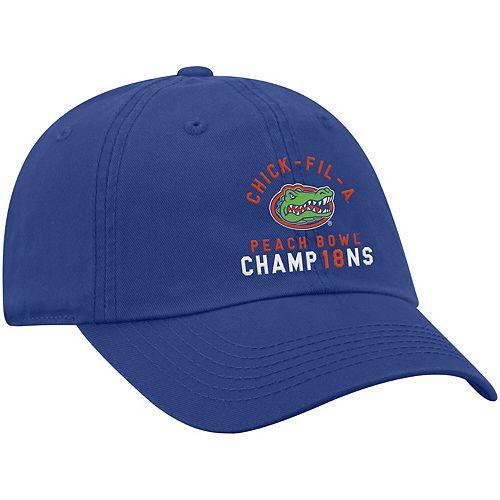 Men's Top of the World Royal Florida Gators 2018 Peach Bowl Champions Crew Adjustable Hat
