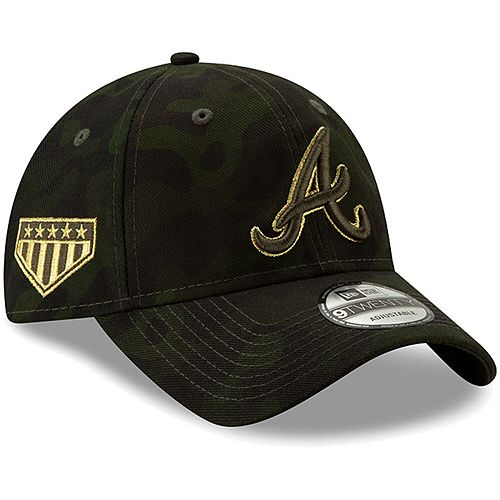 Atlanta Braves New Era 2019 MLB Armed Forces Day 9TWENTY Adjustable Hat - Camo