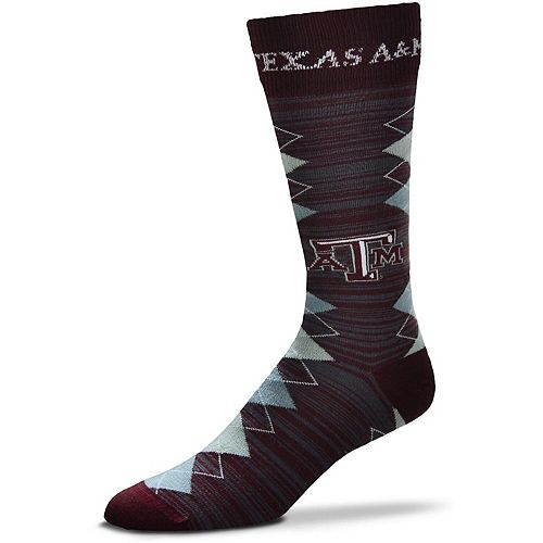 Men's For Bare Feet Texas A&M Aggies Fan Nation Crew Socks