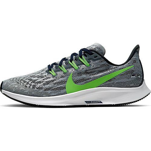 Women's Nike Gray/Green Seattle Seahawks Air Zoom Pegasus 36 Running Shoes