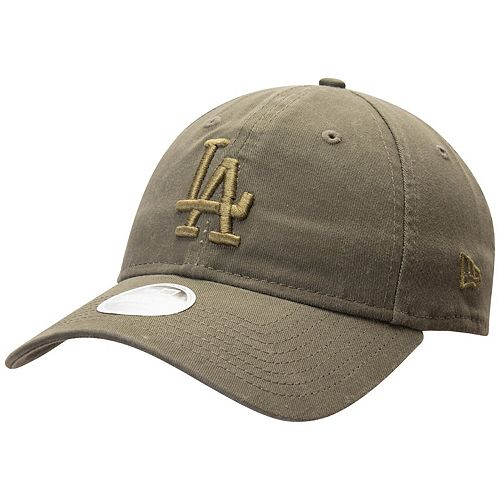Women's New Era Green Los Angeles Dodgers Olive Tonal Core Classic 9TWENTY Adjustable Hat