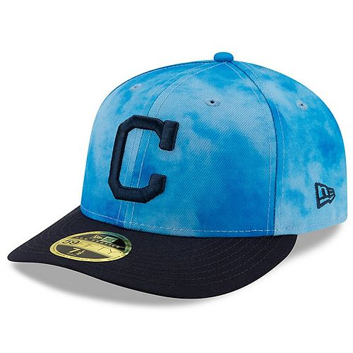 Men's New Era Blue/Navy Cleveland Indians 2019 Father's Day On-Field Low Profile 59FIFTY Fitted Hat