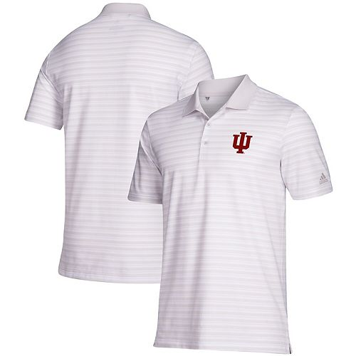 Indiana Hoosiers adidas Ultimate 3-Stripe Polo - White