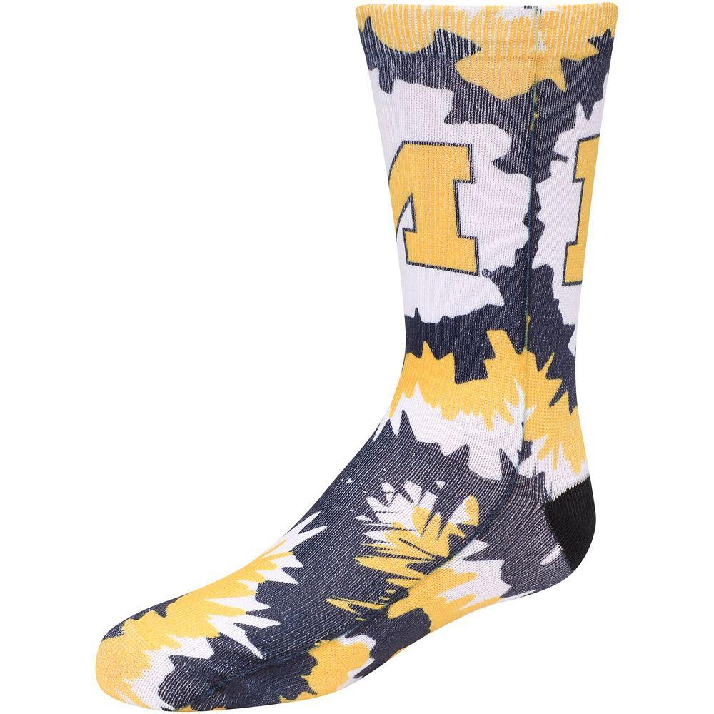 Girls Michigan Wolverines Tie Dye Crew Socks