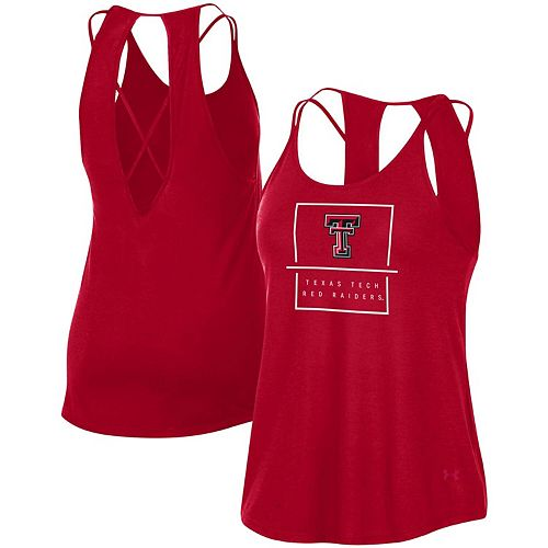 Women's Under Armour Red Texas Tech Red Raiders Performance Lux Tank Top