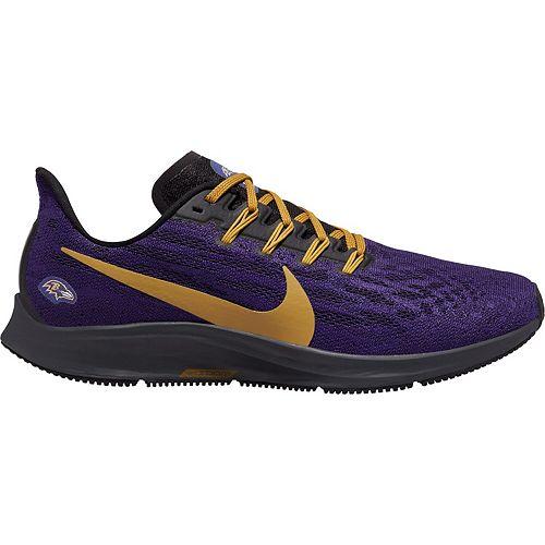 Men's Nike Purple/Gold Baltimore Ravens Air Zoom Pegasus 36 Running Shoes