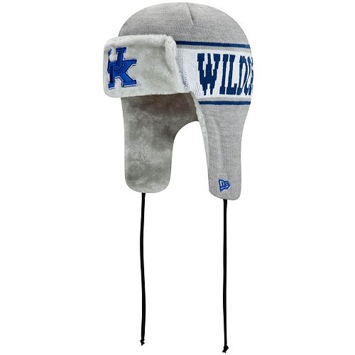 Men's New Era Gray Kentucky Wildcats Basic Trapper Knit Hat
