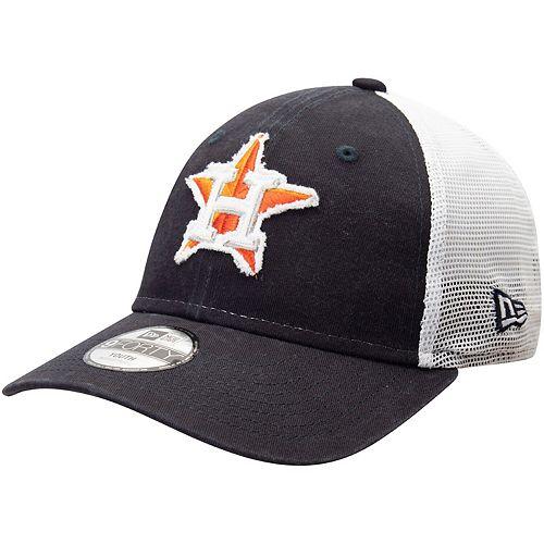 Youth New Era Navy Houston Astros Team Truckered 9FORTY Snapback Hat