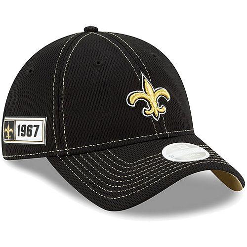 Women's New Era Black New Orleans Saints 2019 NFL Sideline Road Official 9TWENTY Adjustable Hat