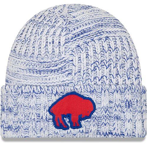 Women's New Era White Buffalo Bills 2019 NFL Sideline Historic Logo Knit Hat
