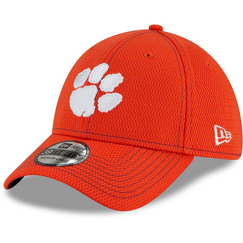 Men's New Era Orange Clemson Tigers Sideline Road 39THIRTY Flex Hat