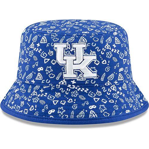 Toddler New Era Royal Kentucky Wildcats Pattern Bucket Hat
