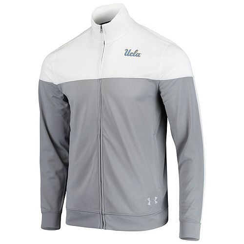 Men's Under Armour White UCLA Bruins College Track Jacket
