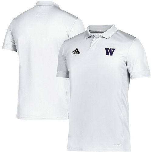 Washington Huskies adidas Team climacool Polo - White
