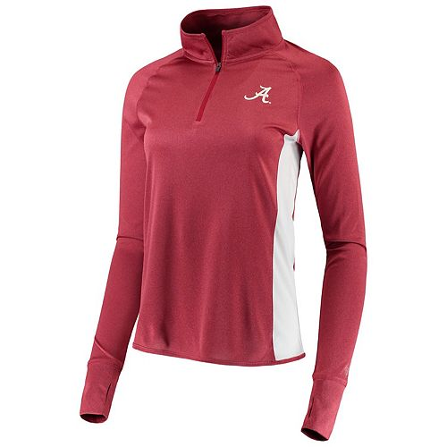 Women's Colosseum Crimson Alabama Crimson Tide Albi Quarter-Zip Pullover Jacket
