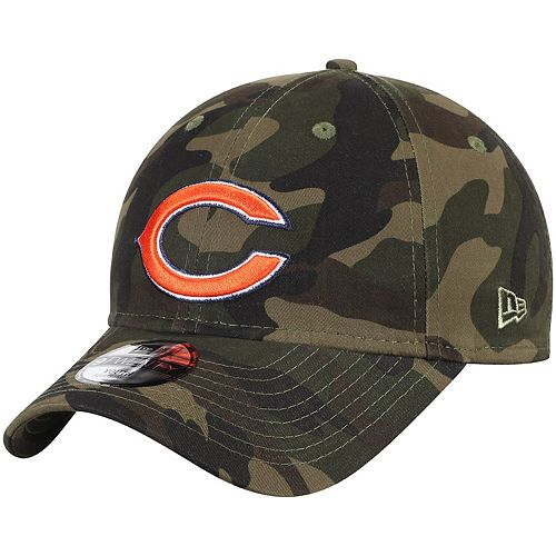 Youth New Era Camo Chicago Bears Core Classic Woodland Camo 9TWENTY Adjustable Hat