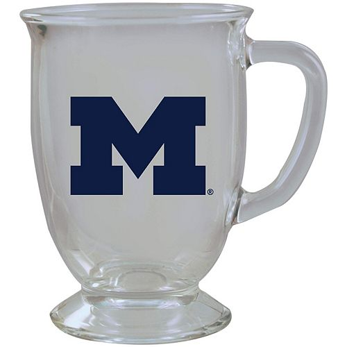 Michigan Wolverines 16oz. Kona Glass Mug