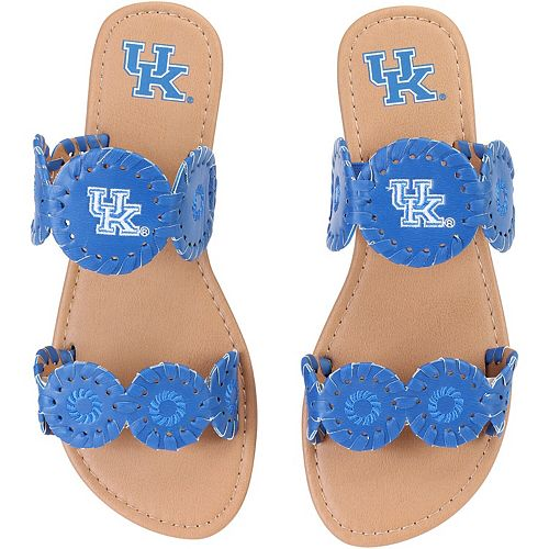 Women's Kentucky Wildcats Double Strap Whip Stitch Sandals