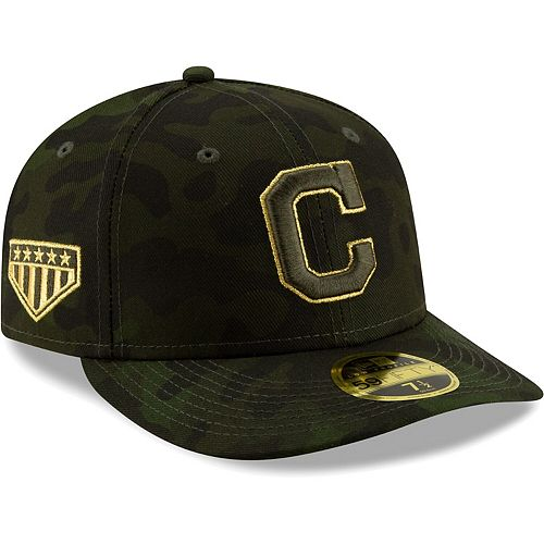 Cleveland Indians New Era 2019 MLB Armed Forces Day On-Field Low Profile 59FIFTY Fitted Hat - Camo