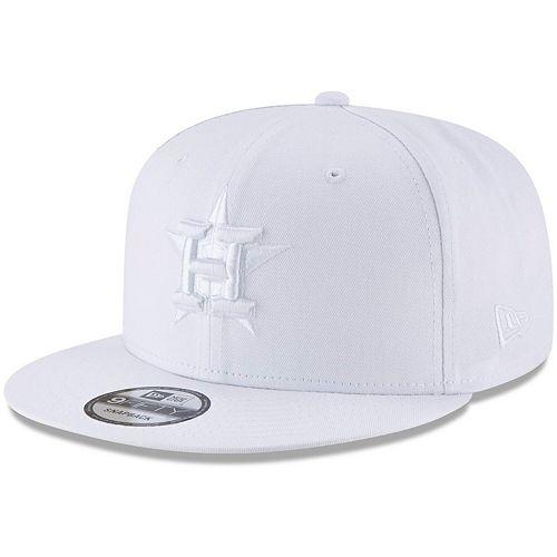 Men's New Era White Houston Astros Basic 9FIFTY Adjustable Snapback Hat